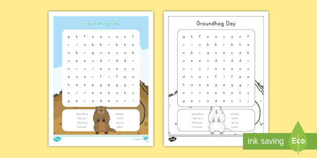 photograph regarding Groundhog Day Word Search Printable titled Groundhog Working day Phrase Appear - groundhog working day, groundhog