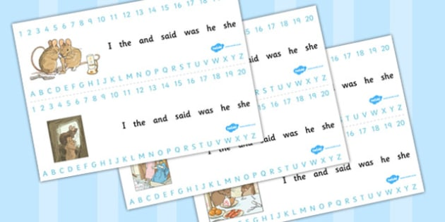 The Tale of Two Bad Mice Combined Number and Alphabet Strips