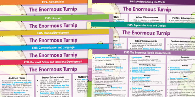EYFS The Enormous Turnip Lesson Plan and Enhancement Ideas - planning, the enormous turnip, the enormous turnip story book