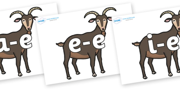 Modifying E Letters on Big Billy Goats - Modifying E, letters, modify, Phase 5, Phase five, alternative spellings for phonemes, DfES letters and Sounds