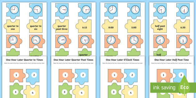 One Hour Later Times Jigsaw Puzzle Activity Pack