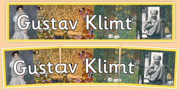 Gustav Klimt Display Banner - gustav klimt, display banner, display, banner, famous artist