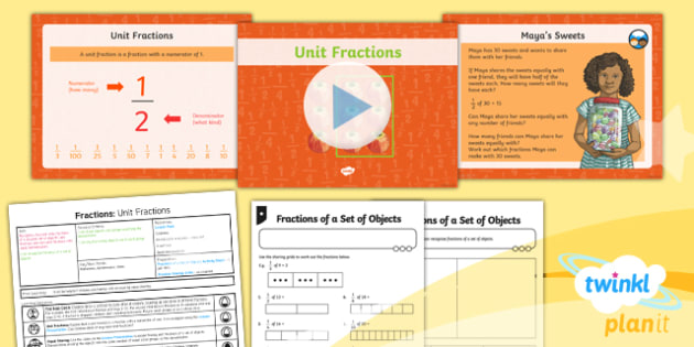 PlanIt Maths Y3 Fractions Lesson Pack Find Fractions of a Set of Objects (1)