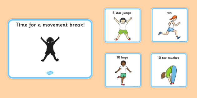 Time For A Movement Break Visual Support Cards Sen Sen