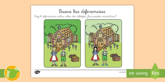 Ficha de actividad: Buscar las diferencias - Hansel y Gretel