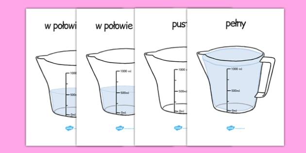 Plakaty Objętość naczynia Dzbanek po polsku - matematyka
