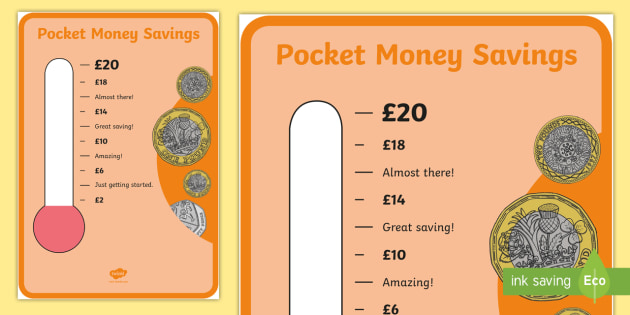 new pocket money savings chart money bank earning