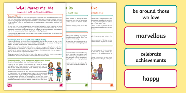 Children's Mental Health Week 2019 Circle Time Activity Pack