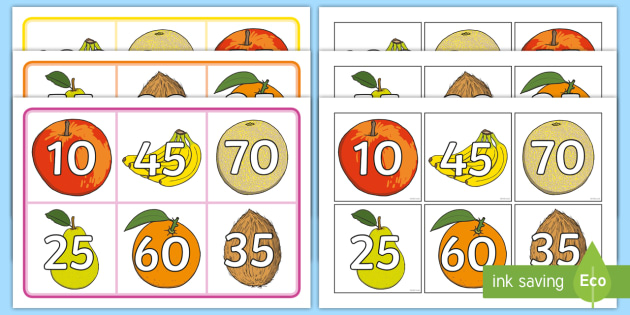 number bonds to 100 multiples of 10 and 5 bingo number bonds to 100 bingo