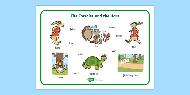 The Tortoise And The Hare Word Mat Teacher Made