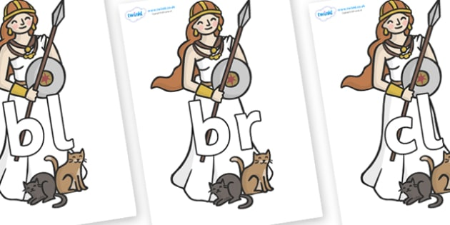 Initial Letter Blends on Viking - Initial Letters, initial letter, letter blend, letter blends, consonant, consonants, digraph, trigraph, literacy, alphabet, letters, foundation stage literacy