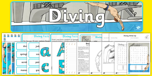 Rio 2016 Olympics Diving Resource Pack - Diving, Olympics, Olympic Games, sports, Olympic, London, 2012, resource pack, pack resources, activity, Olympic torch, events, flag, countries, medal, Olympic Rings, mascots, flame, compete