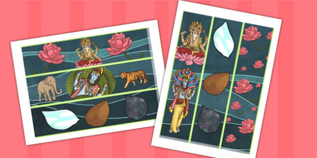 Hindu Creation Story Display Border - hindusim, religion, borders