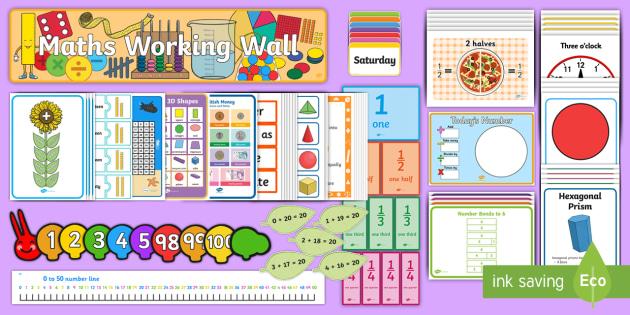 Maths Working Wall Ks1 Display Pack Teacher Made