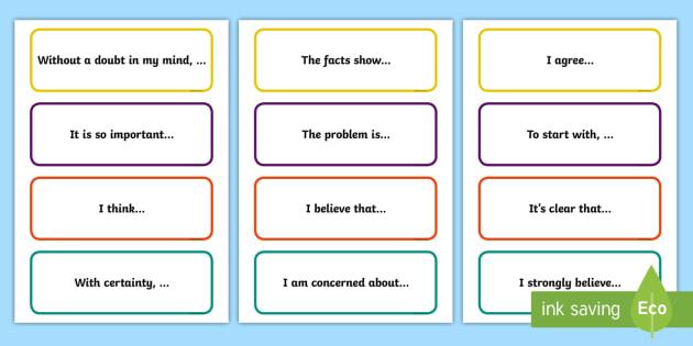 persuasive sentence structure