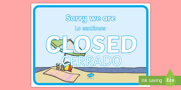 NEW Travel Agents Closed Sign Role Play Signs English