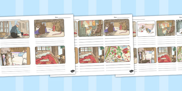 The Tailor of Gloucester Storyboard Template - tailor, gloucester