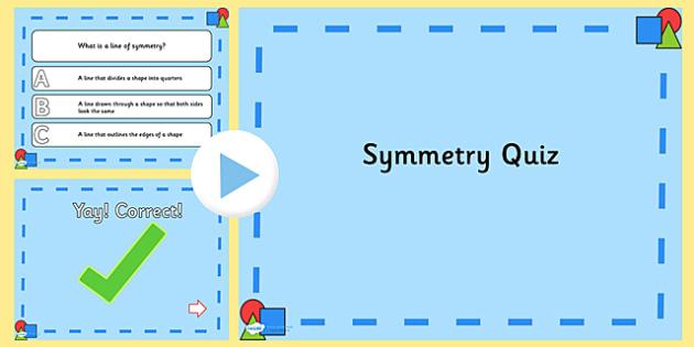 Symmetry PowerPoint Quiz - symmetry, powerpoint, quiz, maths