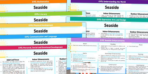 EYFS Seaside Themed Lesson Plan and Enhancement Ideas - planning, seaside, lesson ideas, EYFS