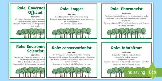 Deforestation Debate Cards - geography, rainforest, tropical, jungle, biome, conservation, deforestation
