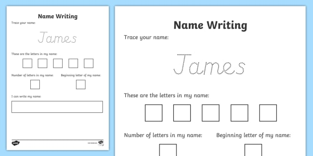 practice tracing your name