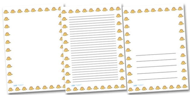 Cute Stegosaurus Portrait Page Borders- Portrait Page Borders - Page border, border, writing template, writing aid, writing frame, a4 border, template, templates, landscape