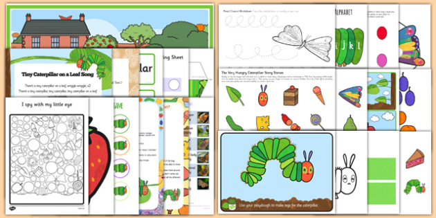 Childminder Resource Pack to Support Teaching on The Very Hungry Caterpillar - Eric Carle, EYFS, Butterfly, Life Cycle