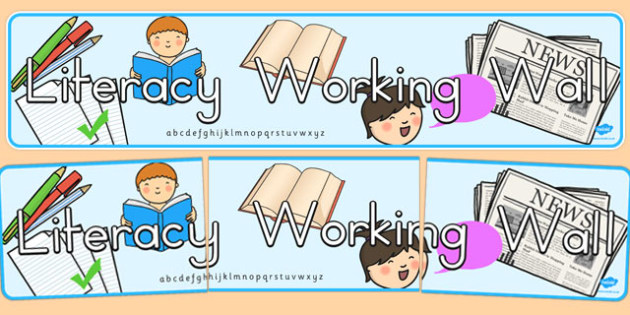 Literacy Working Wall Display Banner - literacy, display, banner