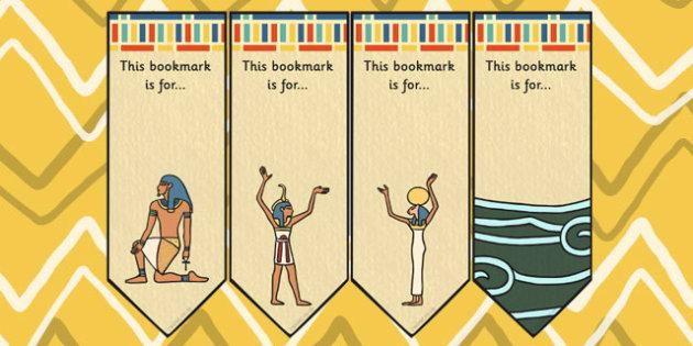 Ancient Egyptian Creation Story Editable Bookmarks - egypt, books