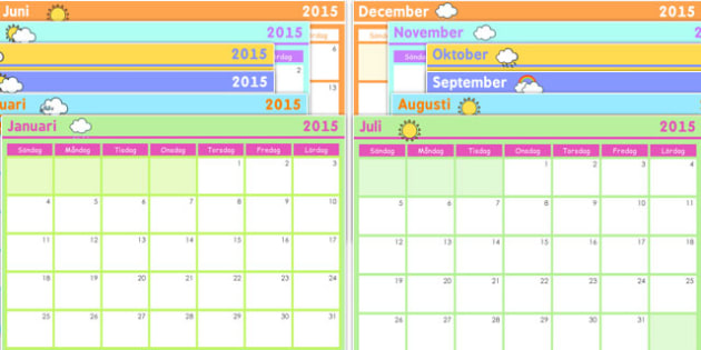 Swedish Calendar - calendars, language, languages, time, months