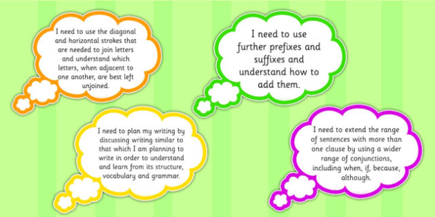 and 4 Writing Assessment I need to Thought Bubbles Composition