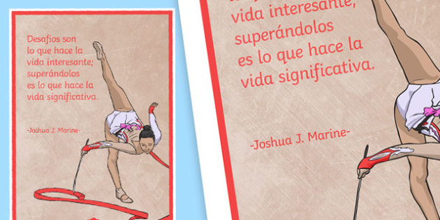 Challenges Are What Makes Life Interesting Motivational Poster - Spanish