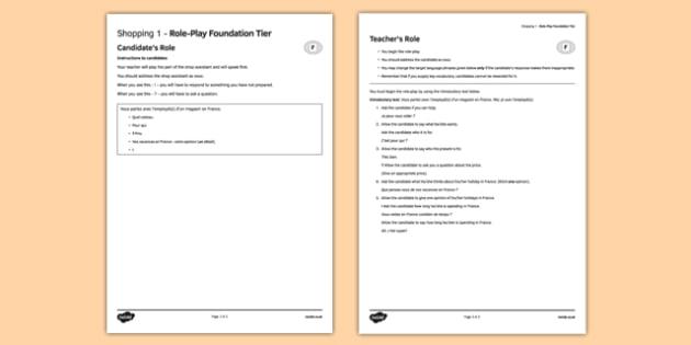 Faire les magasins 1 Jeu de rôle Foundation Tier - french, Role Play, Foundation, Shopping, Clothes, Shop