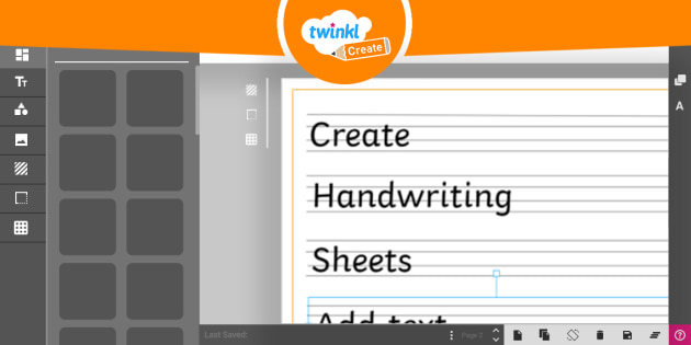 Custom Handwriting Sheets Twinkl Create