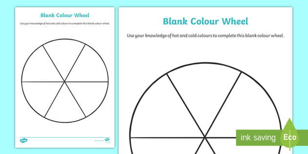 Color Wheel Template For Teachers Www Picswe Com