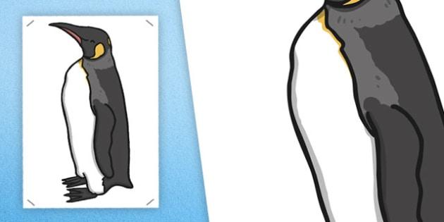 Large Emperor Penguin Cut Out