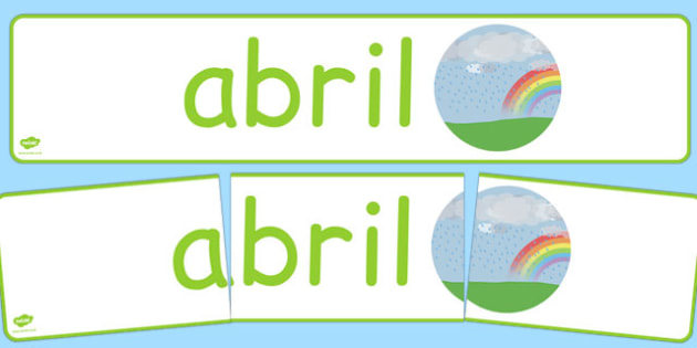 Abril Display Banner Spanish - spanish, year, months of the year, april