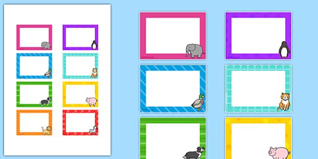 Cute Animals Peg Labels - cute, animals, peg labels, peg, labels
