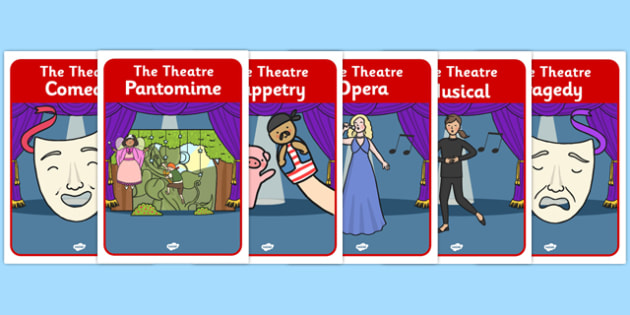 The Theatre Genre Role Play Posters - the theatre, genre, role play, posters, theatre posters, theatre role play, role play posters, genre posters