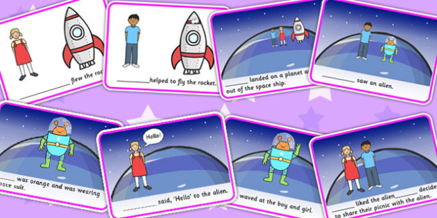 He, She, They And It Finish The Sentence Space Story - stories, SEN