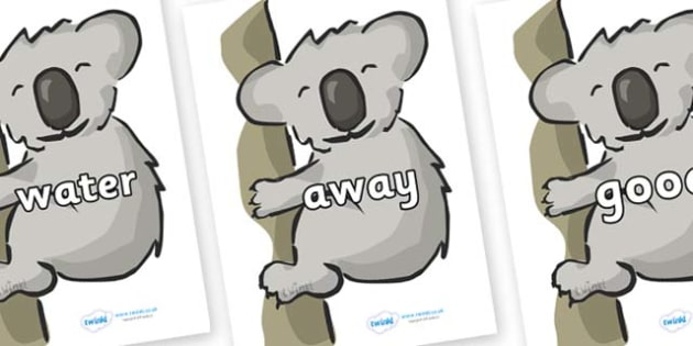 Next 200 Common Words on Koalas - Next 200 Common Words on  - DfES Letters and Sounds, Letters and Sounds, Letters and sounds words, Common words, 200 common words