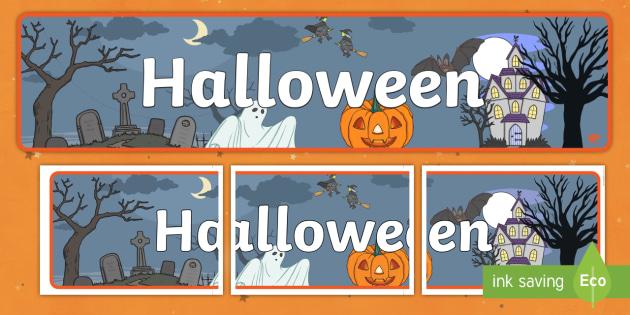 Halloween Striscione Decorazione Halloween Ottobre Festa Fantasma