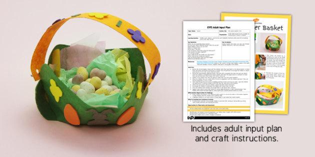 Felt Easter Basket Craft EYFS Adult Input Plan And Craft Pack