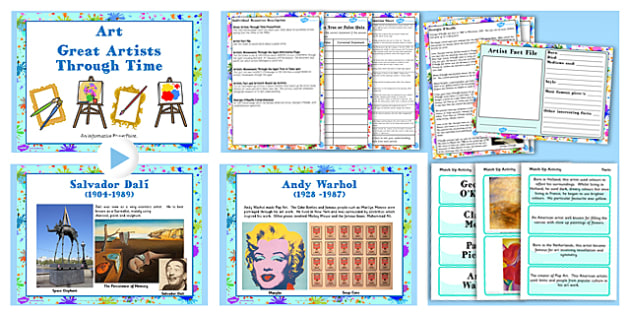 KS2 Art Great Artists Through Time Lesson Teaching Pack - KS2
