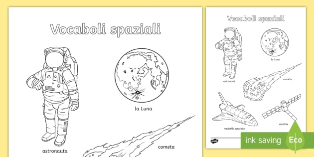 Parole Spaziali Fogli Da Colorare Colora Colorare Pianeti Sistema