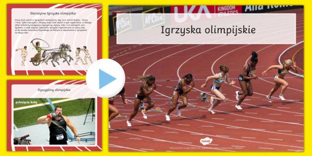 Prezentacja PowerPoint Fakty olimpijskie po polsku