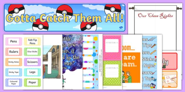 Top 10 KS2 Classroom Set Up Resource Pack