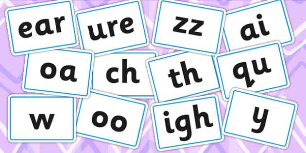 Phase Three Phoneme Cards - phase three, phase 3, phonemes, phase
