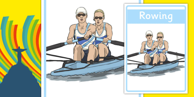 The Olympics Rowing Display Posters - Rowing, Olympics, Olympic Games, sports, Olympic, London, 2012, display, banner, poster, sign, activity, Olympic torch, events, flag, countries, medal, Olympic Rings, mascots, flame, compete