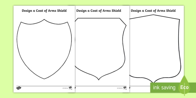 Coat of Arms Template Classroom Resource Twinkl